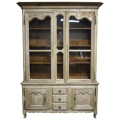 """Charming 19th Century French Cabinet """"deux-corps"""""""