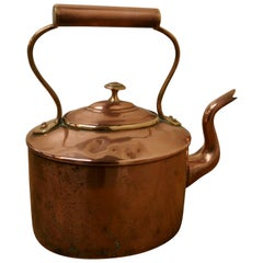 Charming 19th Century Oval Century Copper Kettle