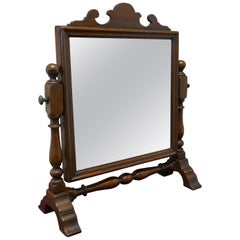 Charming Adam Style Oak Swing Toilet or Dressing Table Mirror