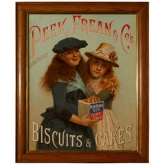 Charming Advertising Sign, for Peek Frean & Co's Biscuits and Cakes