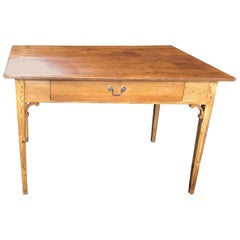 Charming and Versatile French Scrubbed Pine Dining Table or Desk