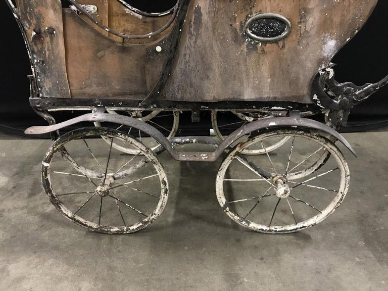 Charming Antique Baby Carriage Pram Stroller For Sale 2