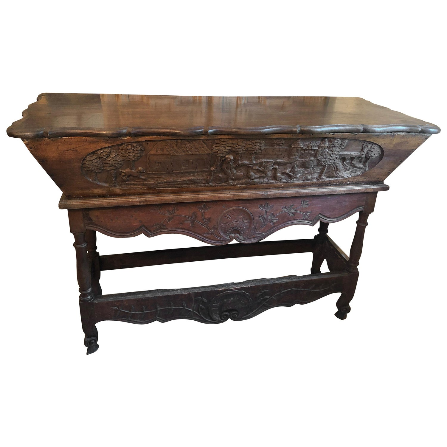 Cool Charming Antique Carved Wood Bread Making Console Table Andrewgaddart Wooden Chair Designs For Living Room Andrewgaddartcom
