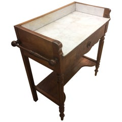 Charming Antique English Regency Mahogany and Marble Mixing Table