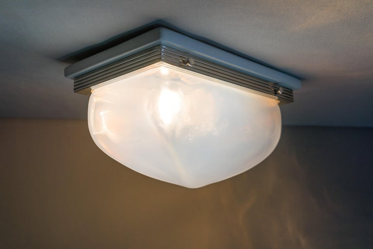 Charming Art Deco Wall or Ceiling Lamp Vienna, circa 1920s For Sale 8