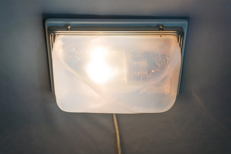 Charming Art Deco Wall or Ceiling Lamp Vienna, circa 1920s For Sale 11