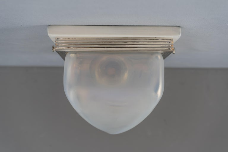 Plated Charming Art Deco Wall or Ceiling Lamp Vienna, circa 1920s For Sale