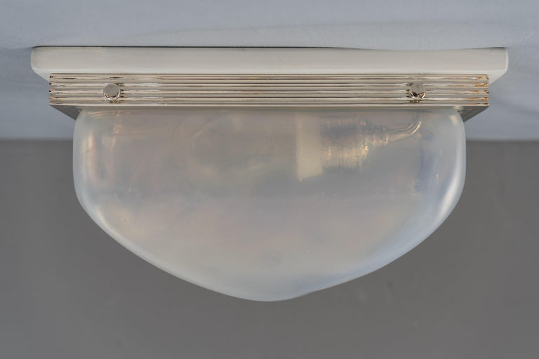 Early 20th Century Charming Art Deco Wall or Ceiling Lamp Vienna, circa 1920s For Sale