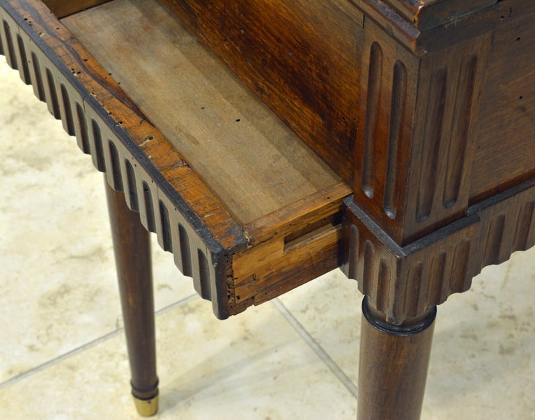 Charming Early 19th Century French Provincial Walnut Game Table 13