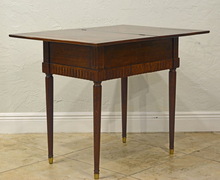 Charming Early 19th Century French Provincial Walnut Game Table 4