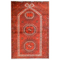 Charming Early 20th Century Afghan Ersari Prayer Rug