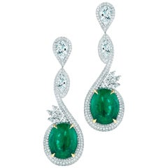 Charming Emerald and Diamond Earring by Takat