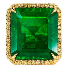 Charming Emerald and Diamond Ring by Takat
