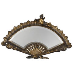 "Charming ""Fan"" Table Mirror"