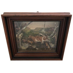 Charming Folk Art Diorama Shadow Box