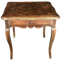 Charming French Country Walnut 19th Century Side Table from Normandy