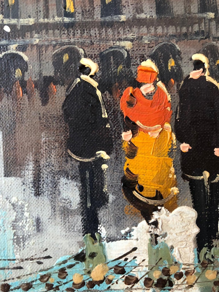 Mid-20th Century Charming French Oil Painting