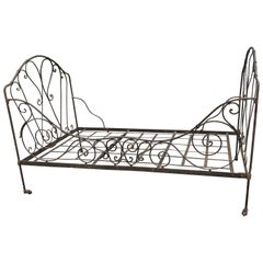 Charming French Wrought Iron Provencal Daybed