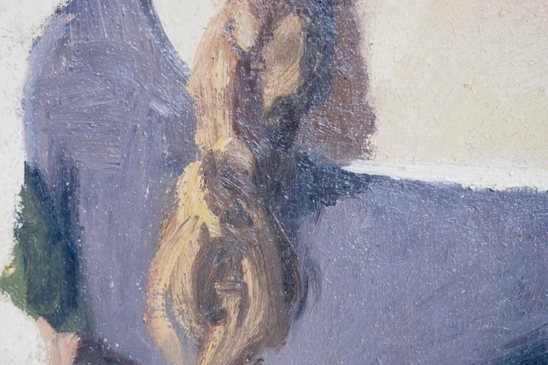 Scandinavian Charming Impressionist Painting, Oil on Canvas, Signed, circa 1900-1920 For Sale
