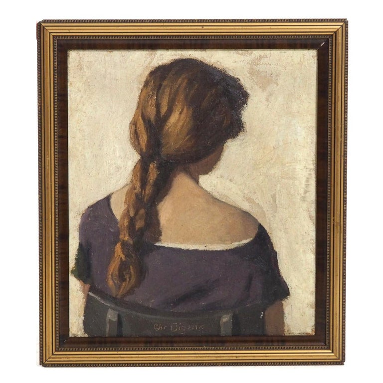 Charming Impressionist Painting, Oil on Canvas, Signed, circa 1900-1920 For Sale