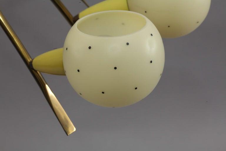 Charming Italian Sputnik Chandelier Attributed Stilnovo, Italy, 1950 In Good Condition For Sale In Vienna, Vienna