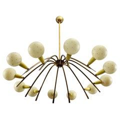 Charming Italian Sputnik Chandelier Attributed Stilnovo, Italy, 1950