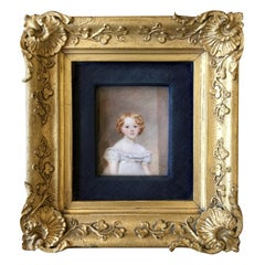 Charming Little Girl 1821 English Portrait Miniature