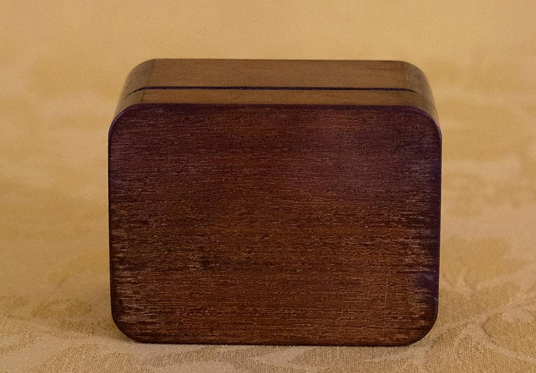 French Charming Little Mahogany Jewelry Box Louis-Philippe Period, 19th Century For Sale