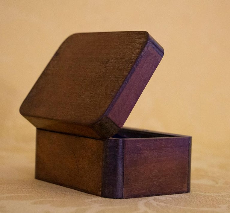 Plated Charming Little Mahogany Jewelry Box Louis-Philippe Period, 19th Century For Sale
