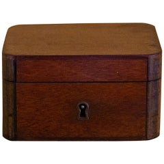 Charming Little Mahogany Jewelry Box Louis-Philippe Period, 19th Century