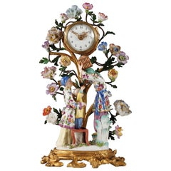 Charming Louis XV Style Clock Attributed to Samson & Cie