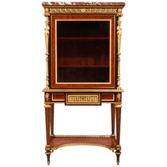 Charming Louis XVI Style Vitrine Attributed to H. Dasson