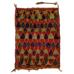 Charming Miniature Old Berber Rug with Abstract Geometric Pattern