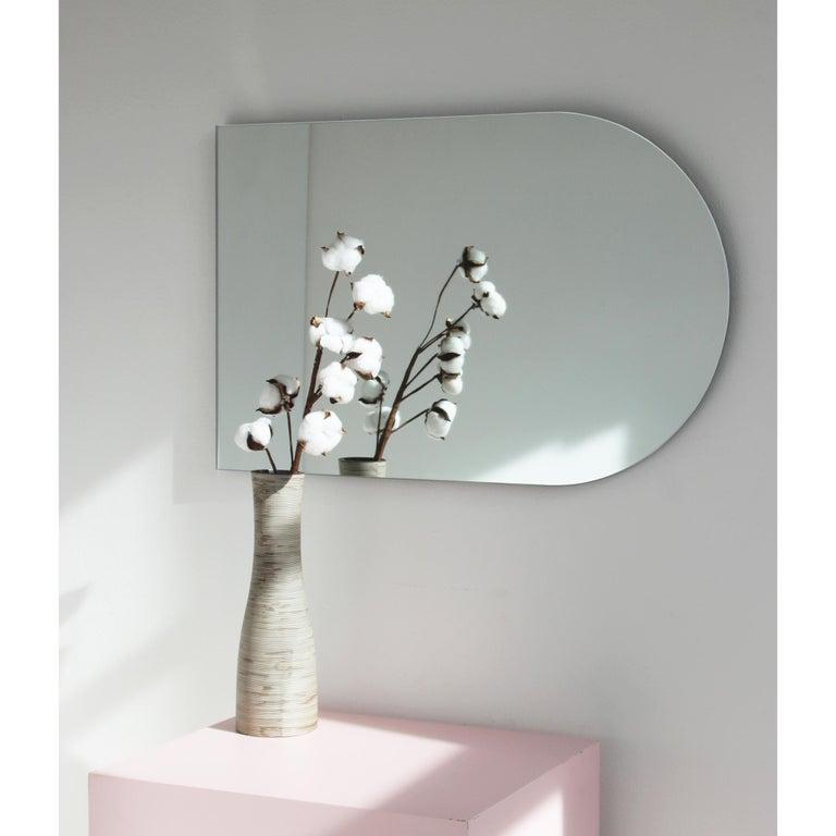 Organic Modern Arcus™ Arch shaped Modern Contemporary Versatile Frameless Mirror For Sale