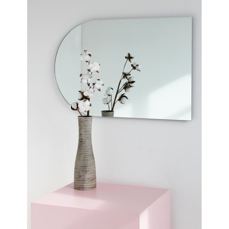 British Charming Modern Arcus™ Mirror Frameless - four mirrors in one For Sale