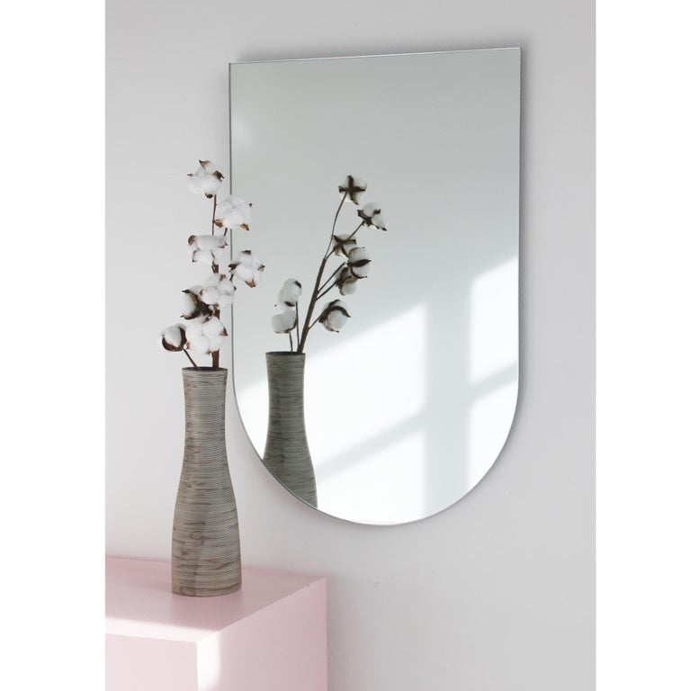 Contemporary Charming Modern Arcus™ Mirror Frameless - four mirrors in one For Sale