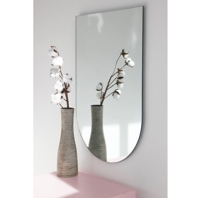 Charming Modern Arcus™ Mirror Frameless - four mirrors in one For Sale 1