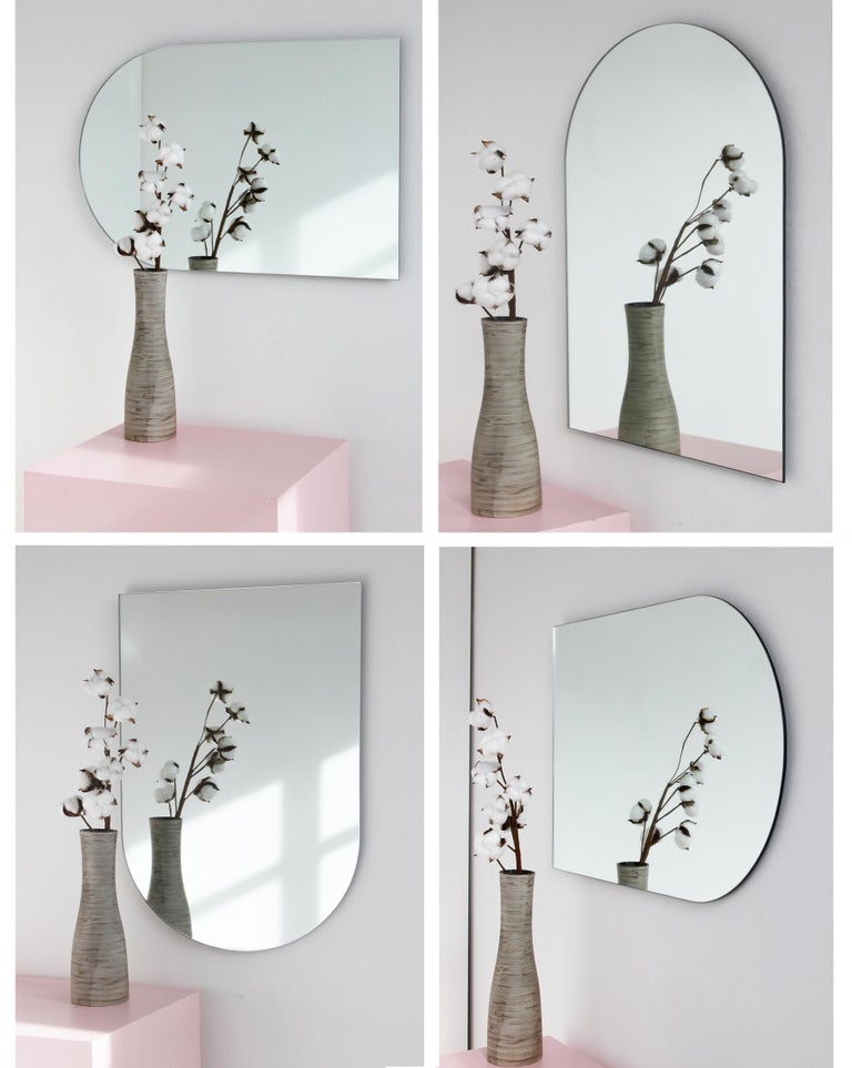 Charming Modern Arcus™ Mirror Frameless - four mirrors in one For Sale 3