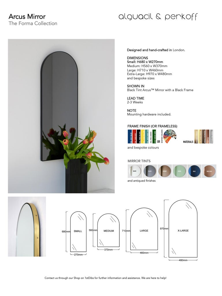 Arcus™ Arch shaped Modern Contemporary Versatile Frameless Mirror For Sale 5