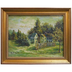 Charming Oil On Canvas Signed, M. Blossom