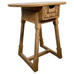 "Charming One Drawer Stand/Lamp Table 'British Oak"" by Jamestown Lounge"