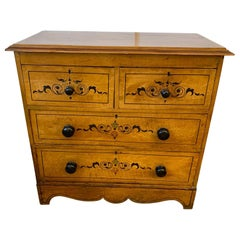 Charming Painted Pine Small Chest of Drawers
