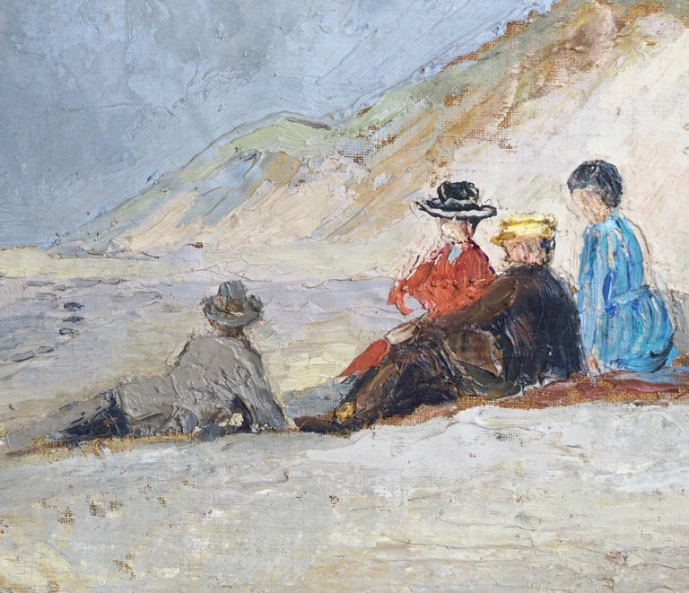 Charming painting from Skagen, Denmark, signed with monogram