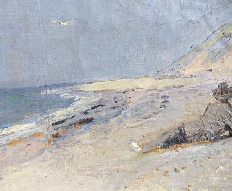 20th Century Charming Painting from Skagen, Denmark, Signed with Monogram