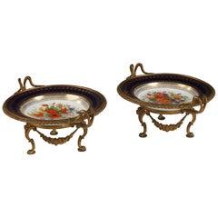"Charming Pair of Louis XVI Style ""Sèvres"" Plates, France, Circa 1880"