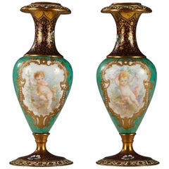 Charming Pair of Small Vases