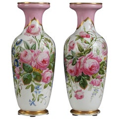 Charming Pair of Vases by Paris Porcelain