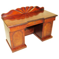 Charming Regency 19th Century Mahogany Tea Caddy Miniature Sideboard
