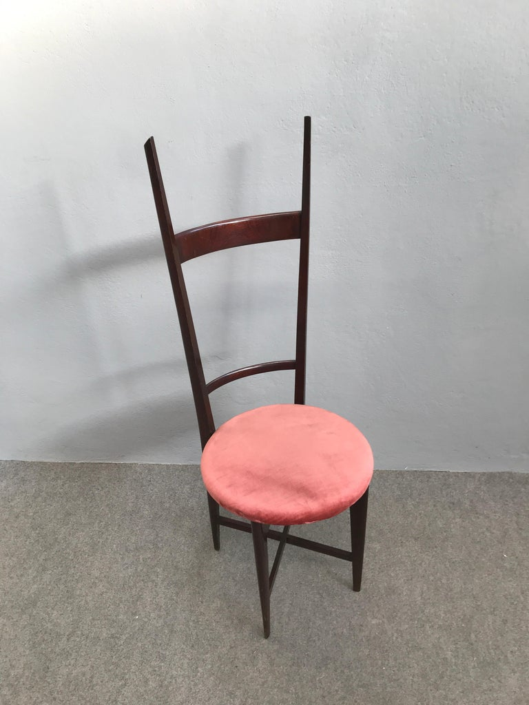 Charming Set of Four Dining Chairs by Santambrogio e De Berti, Italy, 1950s For Sale 3