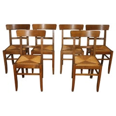 Charming Set of French Chairs Director Style